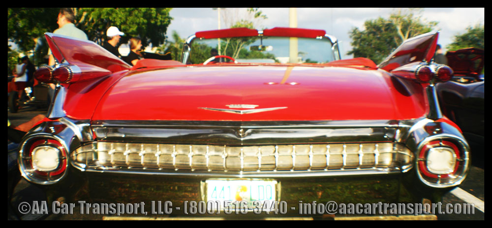 1959 Red Cadillac - Classic Car Show - Davie FL May 2012