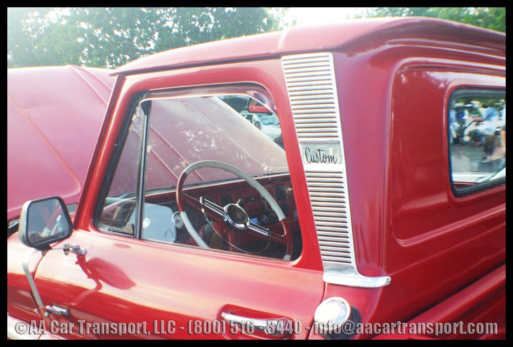 Davie FL Car Show Red Custom Chevy