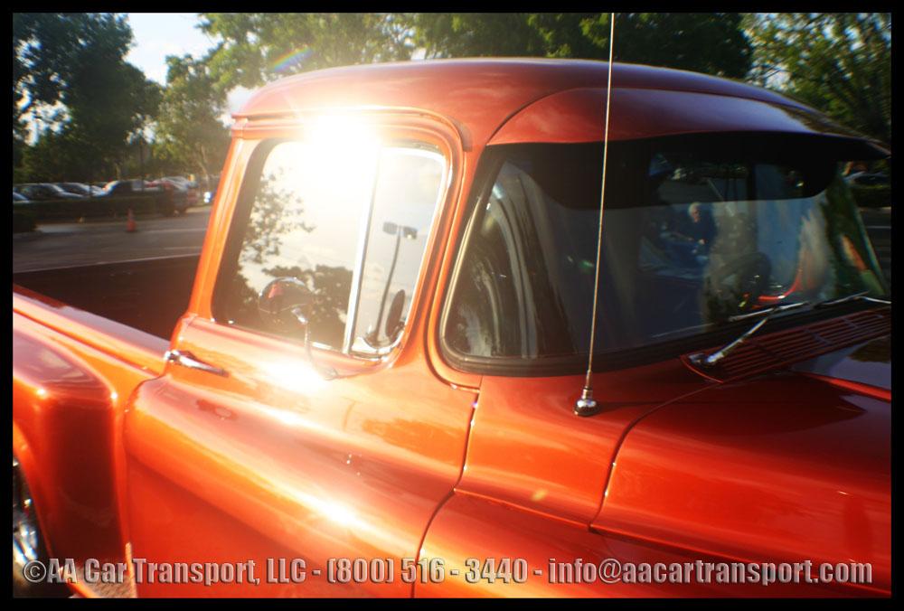Davie FL Car Show Red Pickup