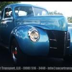 Davie FL Car Show Red Pickup Top 40 Blue